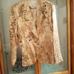 Short gold brocade jacket